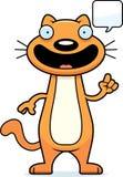 Cartoon Cat Talking Royalty Free Stock Photo