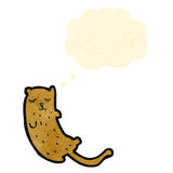 cartoon cat with thought bubble Stock Photos
