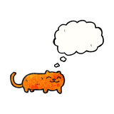 Cartoon cat with thought bubble Stock Image