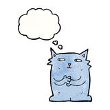 cartoon cat with thought bubble Stock Photo