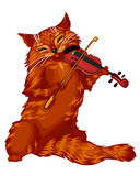 Cartoon cat violinist Royalty Free Stock Photography