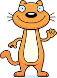 Cartoon Cat Waving Stock Images