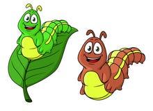 Cartoon caterpillar character Royalty Free Stock Photography