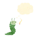 cartoon caterpillar smoking cigarette Royalty Free Stock Images