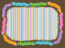 Cartoon caterpillar stripes frame Royalty Free Stock Photos
