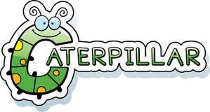Cartoon Caterpillar Text Royalty Free Stock Photography