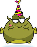Cartoon Catfish Drunk Party Stock Image