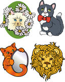 Cartoon cats Royalty Free Stock Image