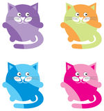 Cartoon cats Stock Photo