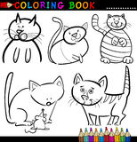 Cartoon Cats for Coloring Book or Page Stock Photography