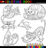 Cartoon Cats for Coloring Book or Page Royalty Free Stock Photography