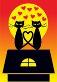 Cartoon cats illustration Stock Photo