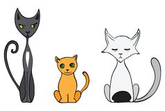 Cartoon cats Stock Images