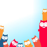 Cartoon cats illustration with place for your text Stock Photo