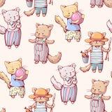 Cartoon cats Stock Photo