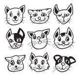 Cartoon cats set Royalty Free Stock Photography