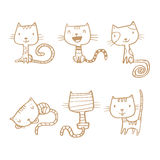Cartoon cats set. Royalty Free Stock Photography