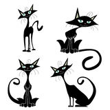 Cartoon cats vector Royalty Free Stock Photo