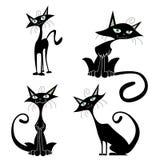 Cartoon cats vector Royalty Free Stock Photo