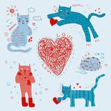 Cartoon Cats Stock Images