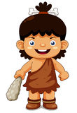 Cartoon cave boy Stock Image
