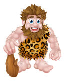 Cartoon Caveman with Club Royalty Free Stock Images