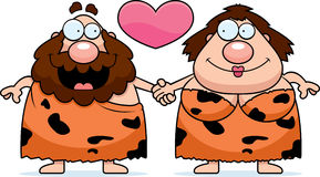Cartoon Caveman Couple Royalty Free Stock Images
