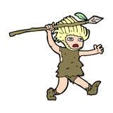 Cartoon caveman Royalty Free Stock Photography