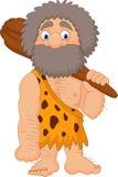Cartoon caveman holding club. Illustration of Cartoon caveman holding club Stock Photo