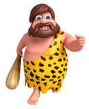 Cartoon caveman with running pose Stock Images