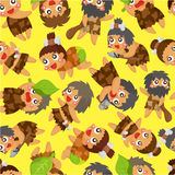 Cartoon Caveman seamless pattern Stock Image