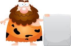 Cartoon Caveman Sign Royalty Free Stock Photos