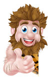 Cartoon Caveman Sign Royalty Free Stock Image