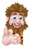 Cartoon Caveman Sign Royalty Free Stock Image