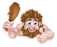Cartoon Caveman Thumbs Up Sign Stock Photography