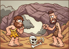 Cartoon cavemen Stock Photo