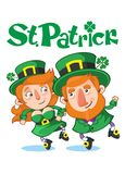 Cartoon Celebrating Saint Patrick Day Concept Royalty Free Stock Photography