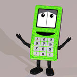 Cartoon Cell Phone Stock Image