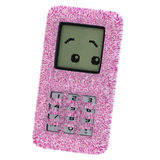 Cartoon cell phone. A multicolored cell phone Royalty Free Stock Images