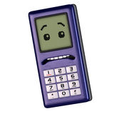 Cartoon cell phone. A multicolored cell phone Royalty Free Stock Image
