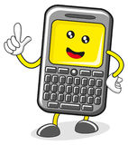 Cartoon cellular. Character created by royalty free illustration