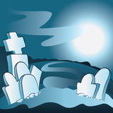 Cartoon cemetery Stock Images