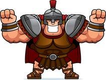 Cartoon Centurion Celebrating. A cartoon illustration of a Roman centurion celebrating Royalty Free Stock Photography