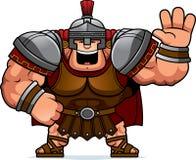Cartoon Centurion Waving. A cartoon illustration of a Roman centurion waving Royalty Free Stock Photography