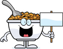 Cartoon Cereal Sign Stock Images