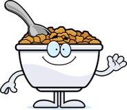 Cartoon Cereal Waving Royalty Free Stock Photos