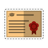 Cartoon certificate diploma school icon Stock Photo