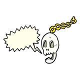 cartoon chain with speech bubble Stock Photo