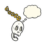 Cartoon chain with thought bubble Stock Images