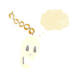 Cartoon chain with thought bubble Royalty Free Stock Image